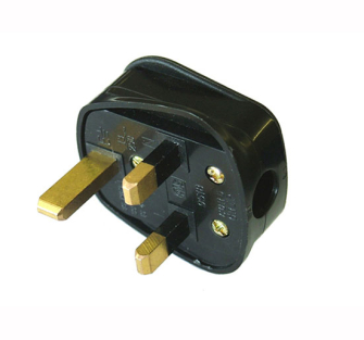 Faithfull Power Plus Black Rubber Plug 230 Volt 13 Amp - 240 Volt
