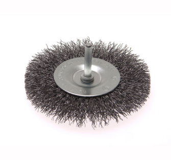 Faithfull Wire Brushes with 6mm Shank - 100 x 6mm 0.30mm