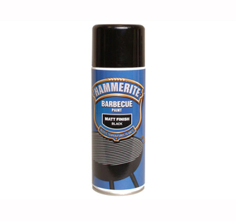 Hammerite BBQ Paint Aerosol Black Matt 400ml - 400ml Black