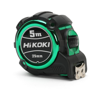 HiKOKI 4310086 5m Double Sided Nylon Coated Tape Measure with 25mm Tape Width