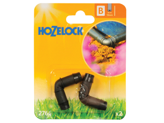Hozelock 90 Degree Elbow Connector 13mm (2 pack) - Auto Watering