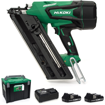 HiKOKI / Hitachi NR1890DBCL/JM 18v First Fixed Framing Nailer - 2 x 3.0Ah Batteries - NR1890DBCL/JM