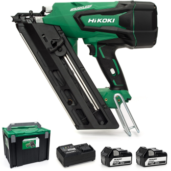 HiKOKI / Hitachi NR1890DBCL/JP 18v First Fixed Framing Nailer - 2 x 5.0Ah Batteries - NR1890DBCL/JP
