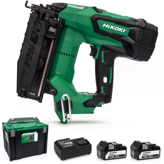 HiKOKI / Hitachi NT1865DBSL/JP 18v Brushless 16Ga Second Fix Nailer - 2 X 5.0Ah Batteries - NT1865DBSL/JP