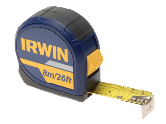 Irwin Standard Pocket Tape 8m (26ft) Carded - Carded 8m Tape
