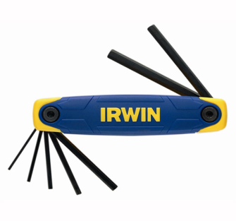 Irwin Folding Hex Key Set 7pc 2.0 - 8.0mm - T10765 Hexagon Key Se