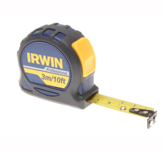 Irwin Professional Pocket Tape 3m (10ft) Carded - Carded 3 Metre
