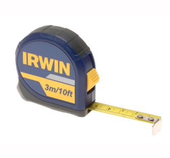Irwin Standard Pocket Tape 3m (10ft) Carded - Carded 3m Tape