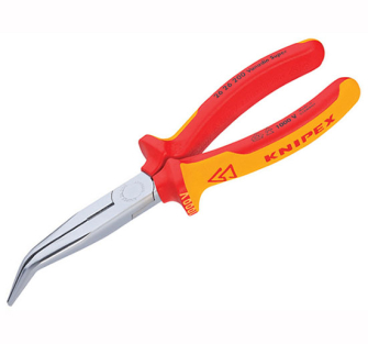 Knipex Bent Long Nose - Side Cutters - 200mm VDE Grips