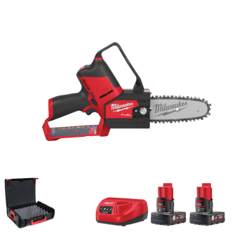 "Milwaukee M12FHS-602X M12 FUEL Hatchet 6"" Pruning Saw - 2 x 6.0ah Batteries"