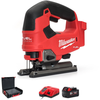 Milwaukee M18FJS-501 M18 D-Handle Jig Saw Kit - 1 X 5.0Ah - M18FJS-501