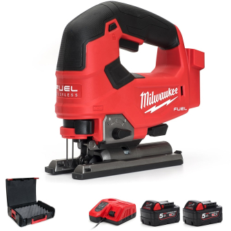 Milwaukee M18FJS-502X M18 D-Handle Jig Saw Kit - 2 X 5.0Ah - M18FJS-502X