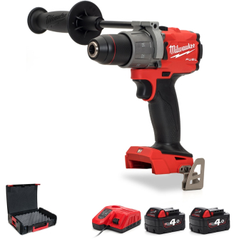 """Milwaukee M18FPD2-402X 1/2"""" Fuel Percussion Drill with 2 X 4.0Ah"""