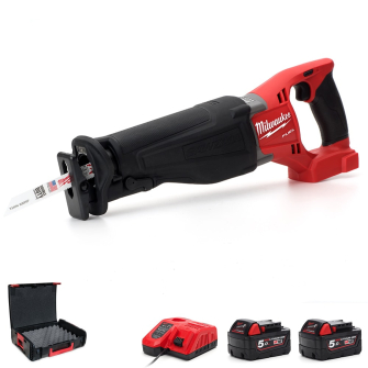 Milwaukee M18ONESX-502X Cordless Fuel ONE-KEY Sawzall Reciprocating Saw 2 x 5ah - M18ONESX-502X