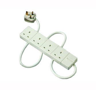 Masterplug Extension Leads White