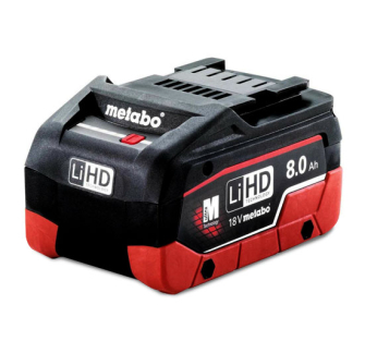 Metabo 625369000 18V LIHD 8.0ah Battery