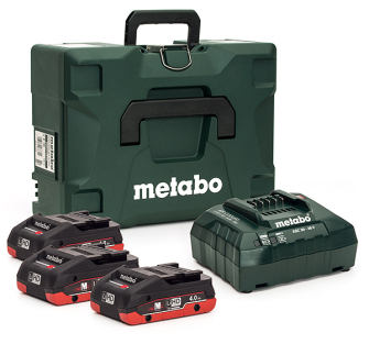 Metabo 685133000 LiHD 4.0 18v 3x4.0ah Compact Battery/Charger