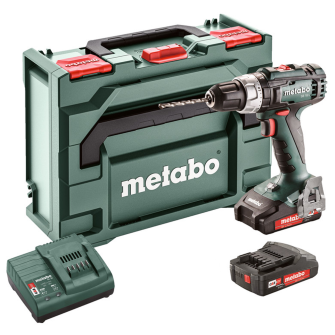 Metabo SB18L Combi Hammer Drill 18V 2 x 2.0Ah Li-ion - SC30 Charger with MetaBOX - 602317580