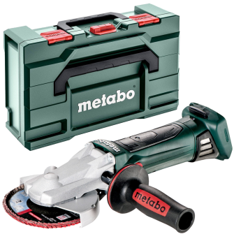Metabo WF18LTX125 18v 5in Flat Head Angle Grinder Bare Unit With MetaBOX - 601306840