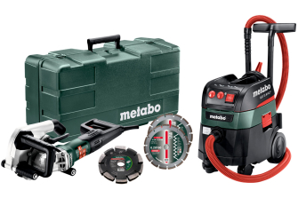Metabo MFE40+ASR35MACP-240V 240v 40mm Wall Chaser and Dust Extractor Vacuum Set - UK604040596