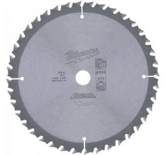 Milwaukee 4932352314 Circular Saw Blade - 165 x 15.8 x 40T