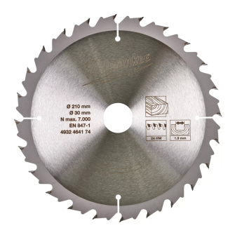Milwaukee 4932464174 210x30 24 Teeth Table Saw Circular Saw Blade