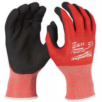 Milwaukee Cut Resistant Level 1 Dipped Gloves