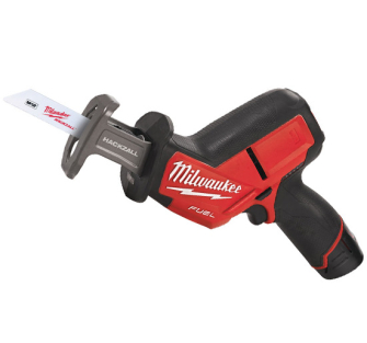 Milwaukee M12CHZ-202C Fuel Hackzall Recip Saw 2 x 2ah Li-Ion - M12CHZ-202C