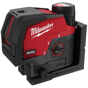 Milwaukee M12CLLP-301C Green Cross Line and Plumb Points Laser Level Kit