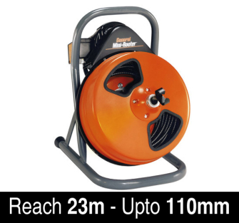 Monument Mini-Rooter Drain Cleaning Machine - 23m