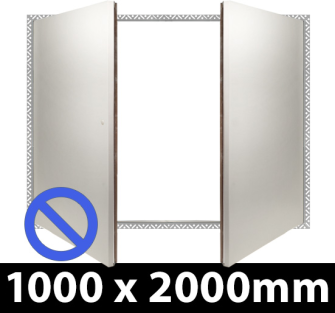Non Fire Rated Riser Door Access Panel 2000 x 1000 BF