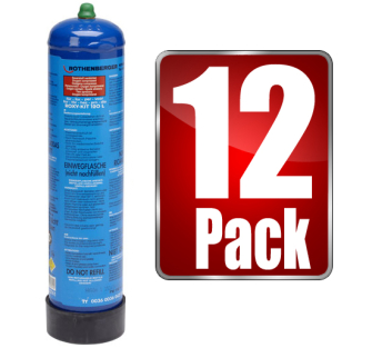 Rothenberger 3.5741 Oxygen Gas Cylinder 12 pack - Oxygen Refill