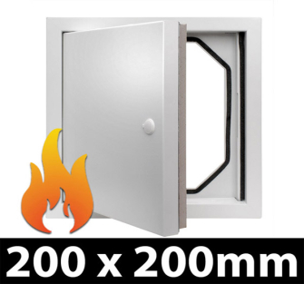 Fire Rated Access Panel - 200x200mm PF - 10 Panel Pack