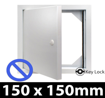 Non Fire Rated Metal Access Panel - Security Lock - 150x150mm - Picture Frame