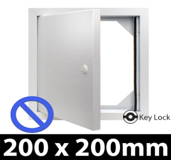 Non Fire Rated Metal Access Panel - Security Lock - 200x200mm PF