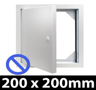 Non Fire Rated Metal Access Panel - Standard Lock - 200x200mm - Picture Frame