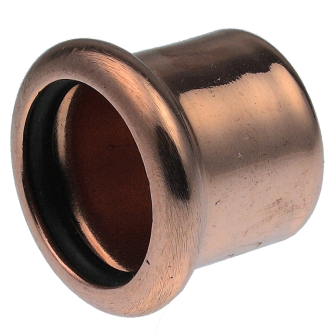 Pegler 38695 XPress Copper 15mm Stop End (M-Press) Pack of 10 - S61/7301