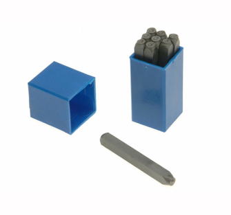 Priory Number Punches - 2.5mm 3/32in