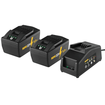 Rems Power Pack 22V, 2 X 5.0Ah Batteries with a 230V, 90W Charger - Kit