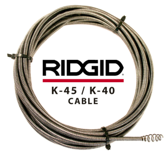 Ridgid K-45 / K-40 Drain Cleaning Cable 36033 - 15.2m