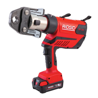 """Ridgid 67053 RP 350 Press Tool Kit with 1/2"""" - 2"""" Jaws, Battery and Charger"""