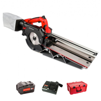 Rothenberger 1000003424 Cordless 18V Pipecut Mini - Kit with Cross Cut Guide Rail