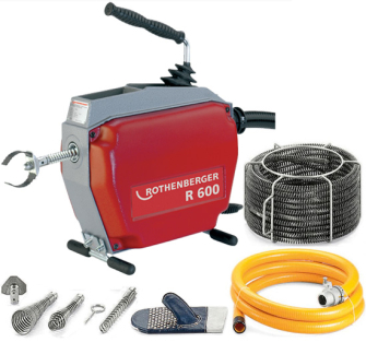 Rothenberger R600 Drain Cleaning Machine Full Kit - 22.5m