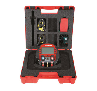 Rothenberger Rocool 600-2 Clamps-Red Box-Vac Probe-Data Viewer