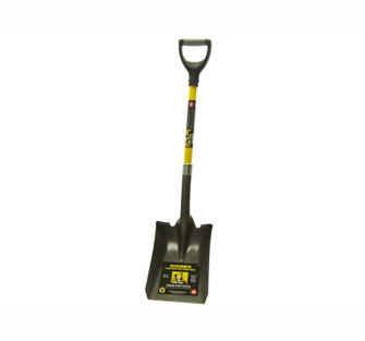 Roughneck Square Shovel 36 inch D Handle - 36in