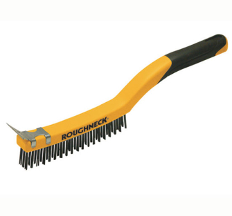 Roughneck Stainless Steel Wire Brush Soft Grip 350mm 14 inch - 14