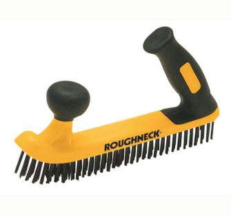 Roughneck Two Handed Wire Brush Soft Grip - With Soft Grip