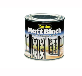 Rustins Matt Paint Black Quick Drying