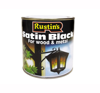 Rustins Satin Paint Black