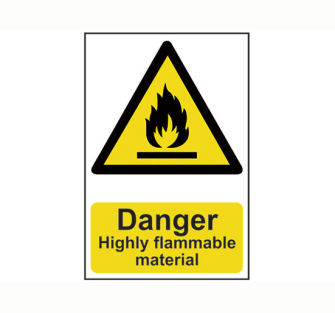 Scan Danger Highly Flammable Material - PVC 200 x 300mm - Single